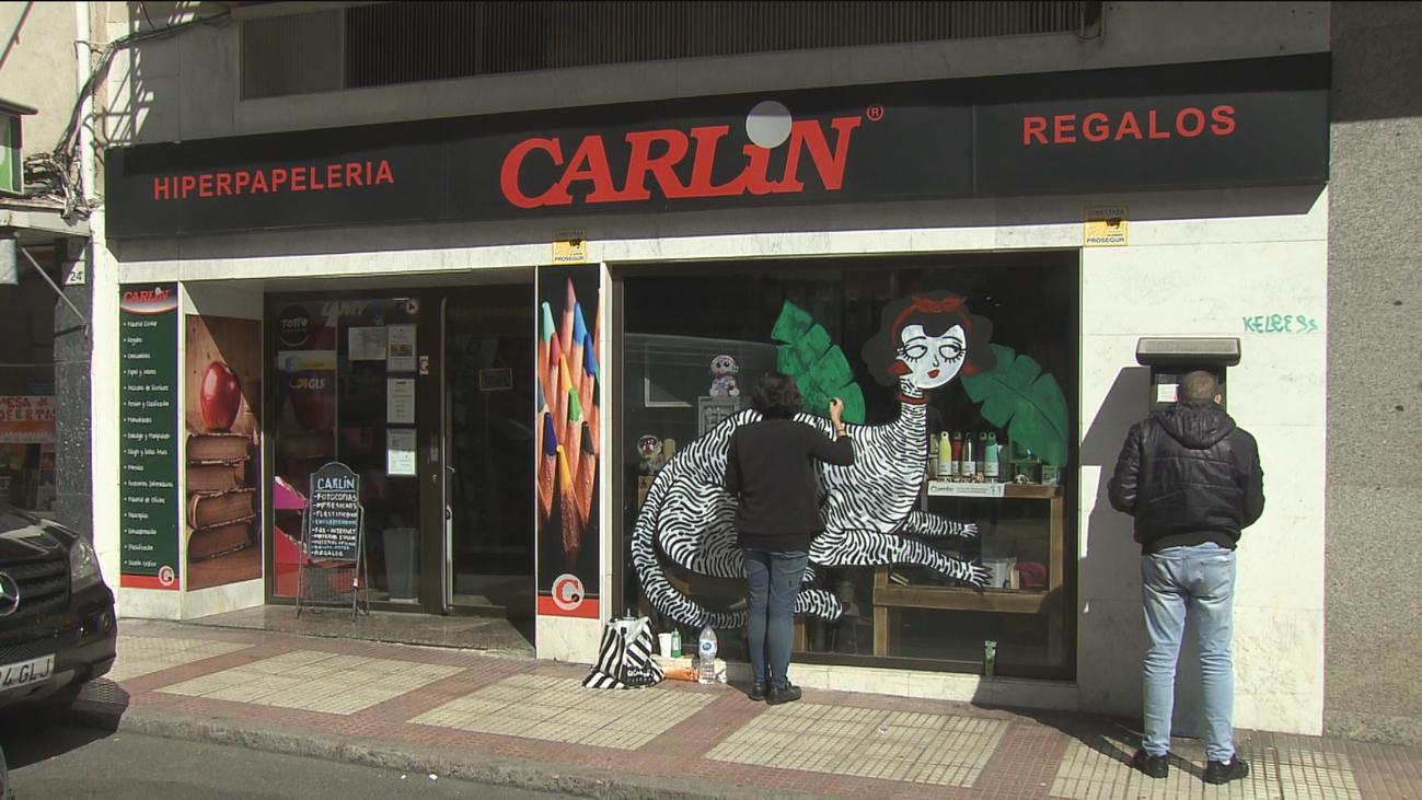 Alcobendas decora las fachadas de sus comercios con arte urbano