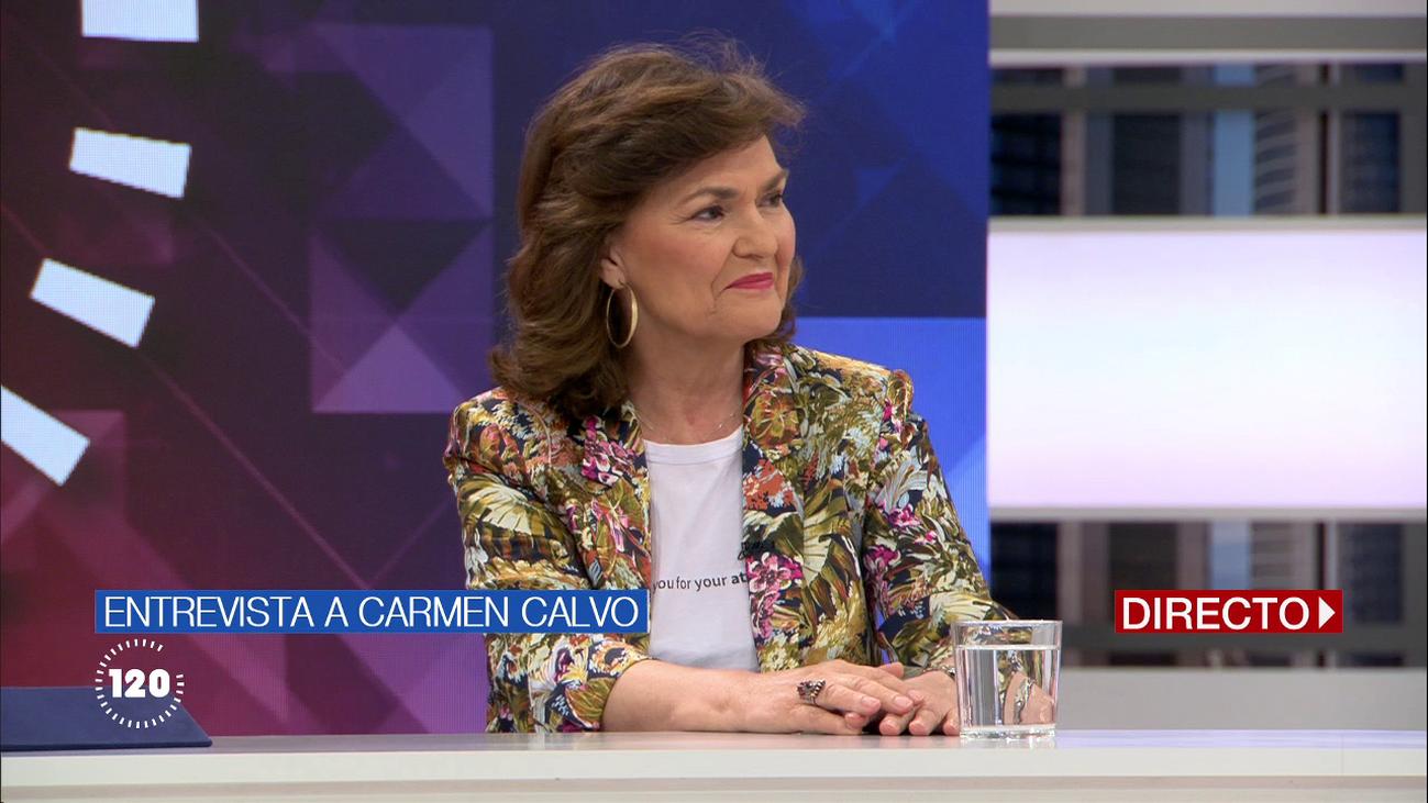 """Carmen Calvo, a Torra por los lazos amarillos: """"Debe estar a disposición de la Junta Electoral"""""""