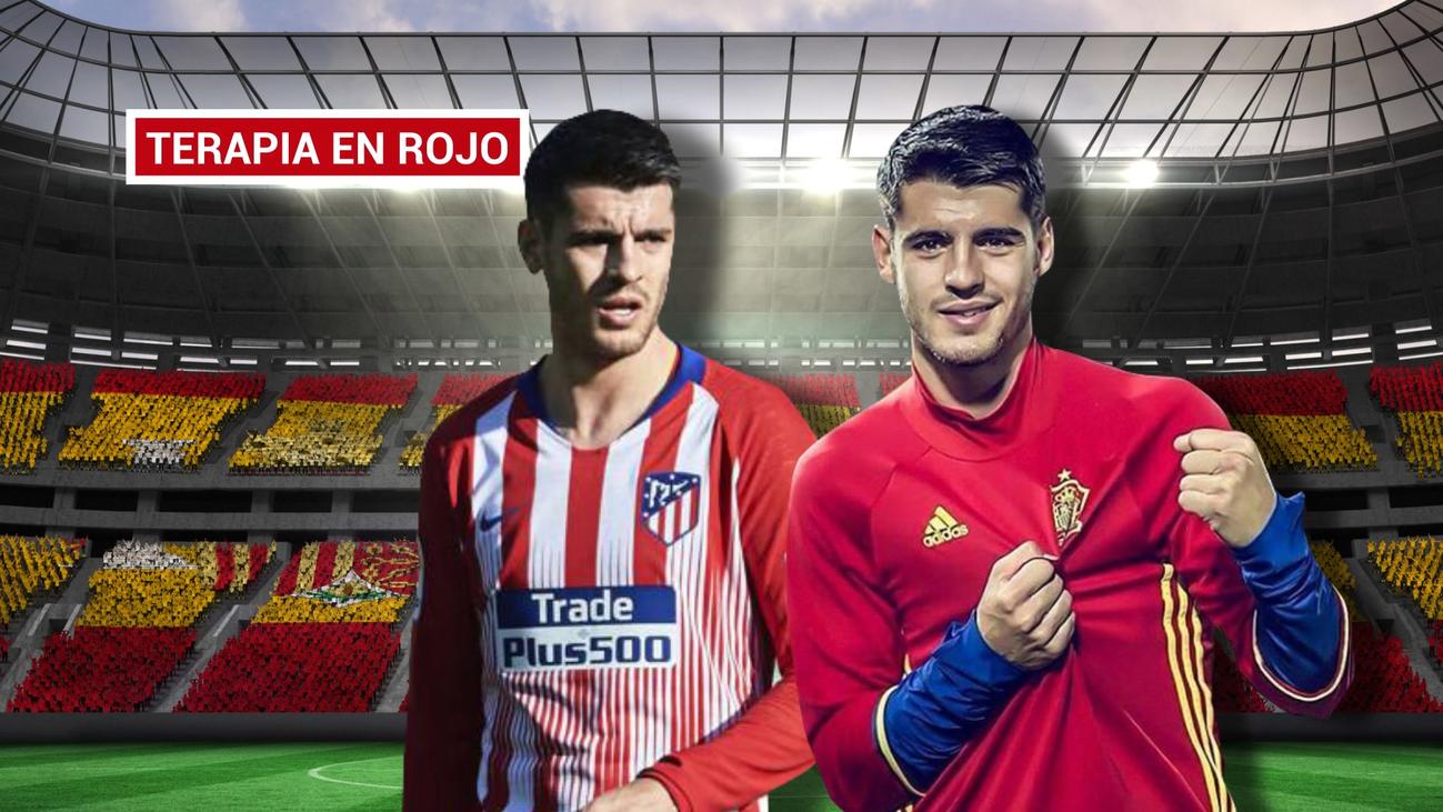 """Morata: """"Gracias a Simeone y Luis Enrique estoy encontrando mi nivel"""""""