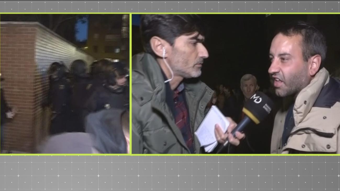 Máxima tensión en la tercera jornada de concentraciones en Vallecas