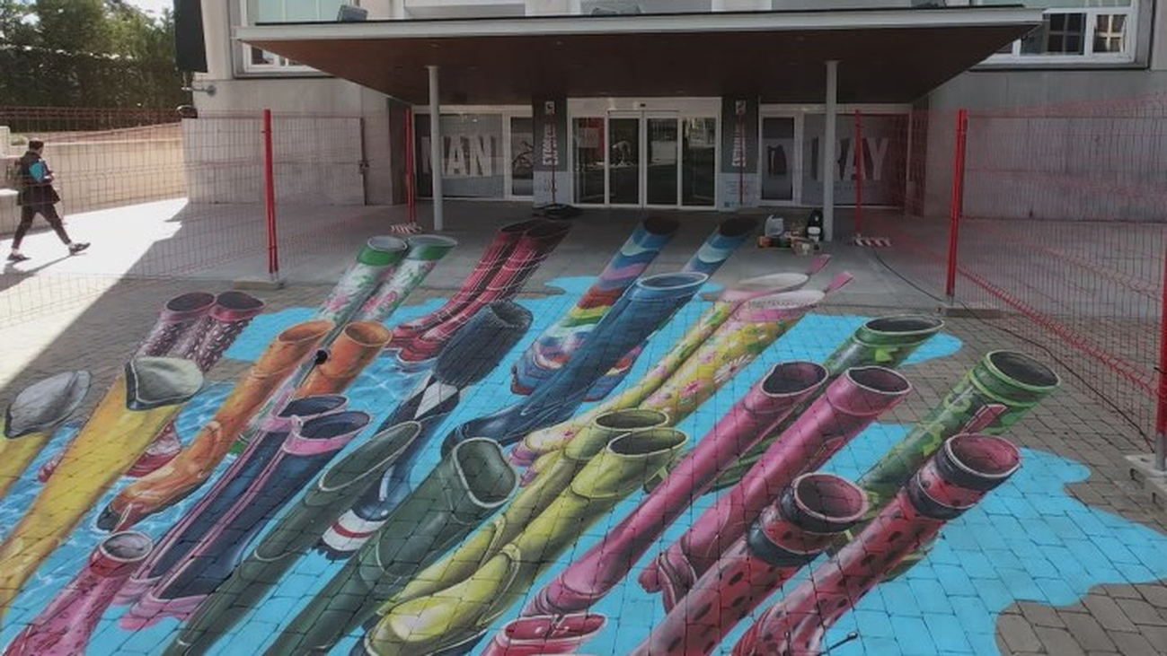 Madrid celebra el Día Mundial del Agua con el arte urbano de Leon Keer