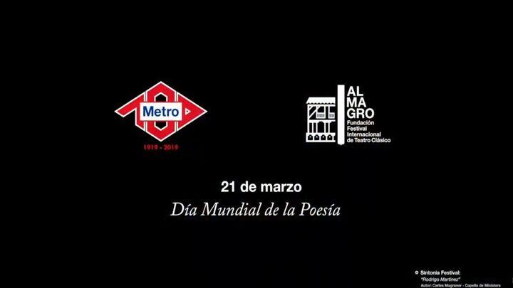 Metro de Madrid y Festival de Almagro se unen por el Día Mundial de la Poesía