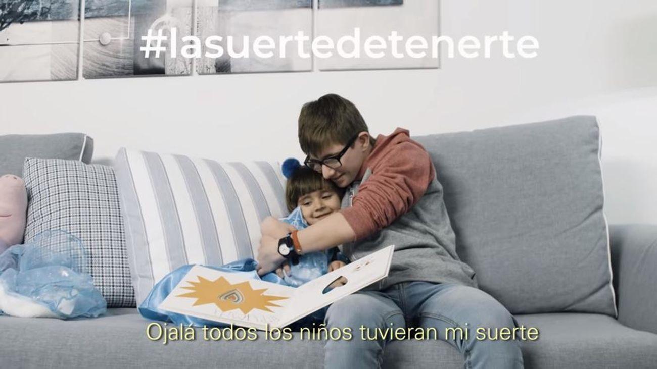 'La suerte de tenerte', el vídeo más tierno de Down