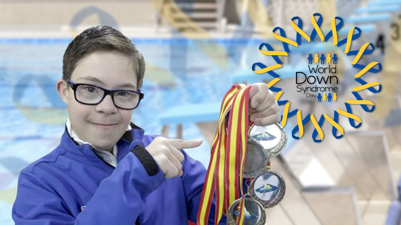 Guillermo, un nadador con síndrome de down sin barreras