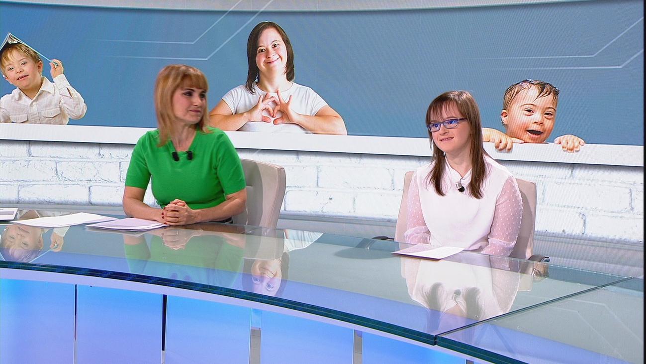 Carmen, fichaje de Telemadrid para presentar una noticia en el Día del Síndrome de Down