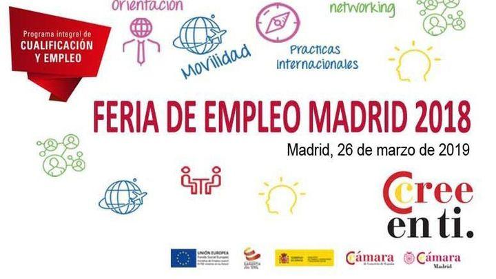 Los jóvenes podrán encontrar trabajo en la Feria de Empleo de la Cámara de Madrid