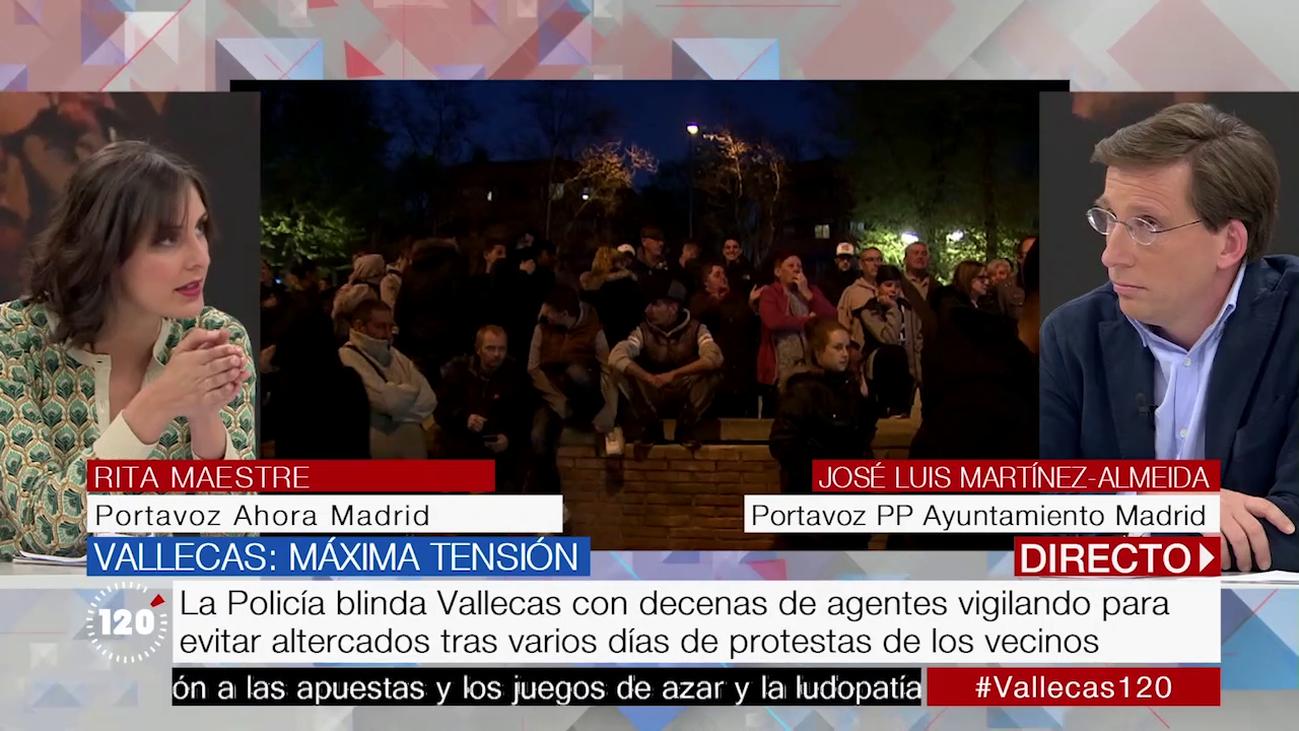 Los portavoces municipales debaten la convivencia en Vallecas tras el muerte de Paco