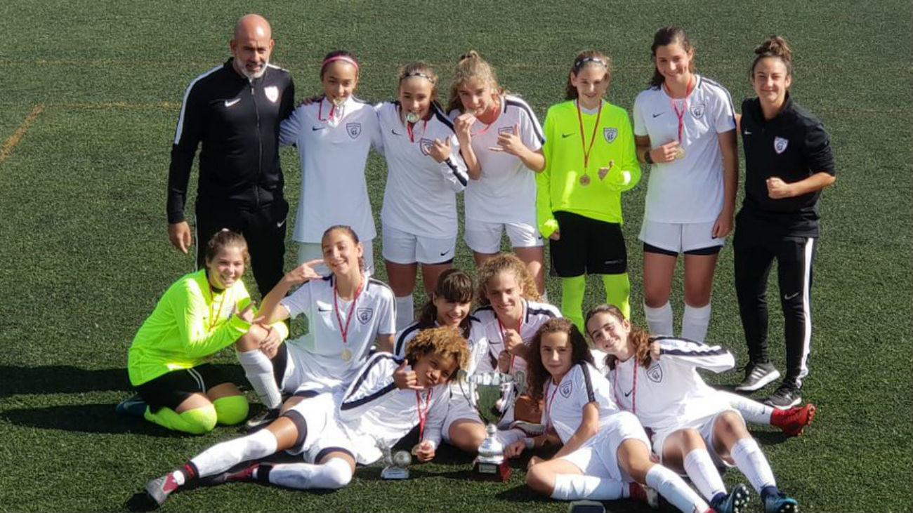 El Madrid CFF femenino infantil arrasa a los chicos