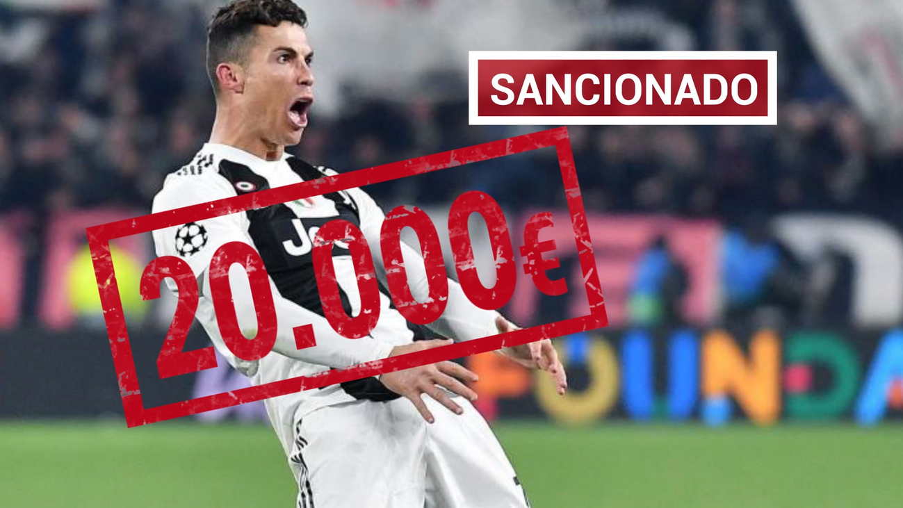 Multa de 20.000 euros a Cristiano por su gesto contra el Atlético
