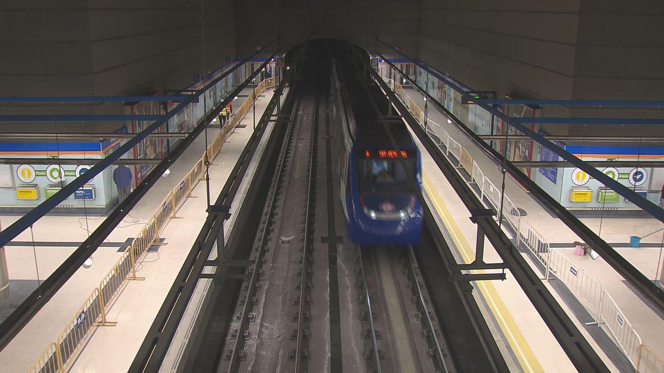La nueva estación de Metro de Arroyofresno entra en funcionamiento