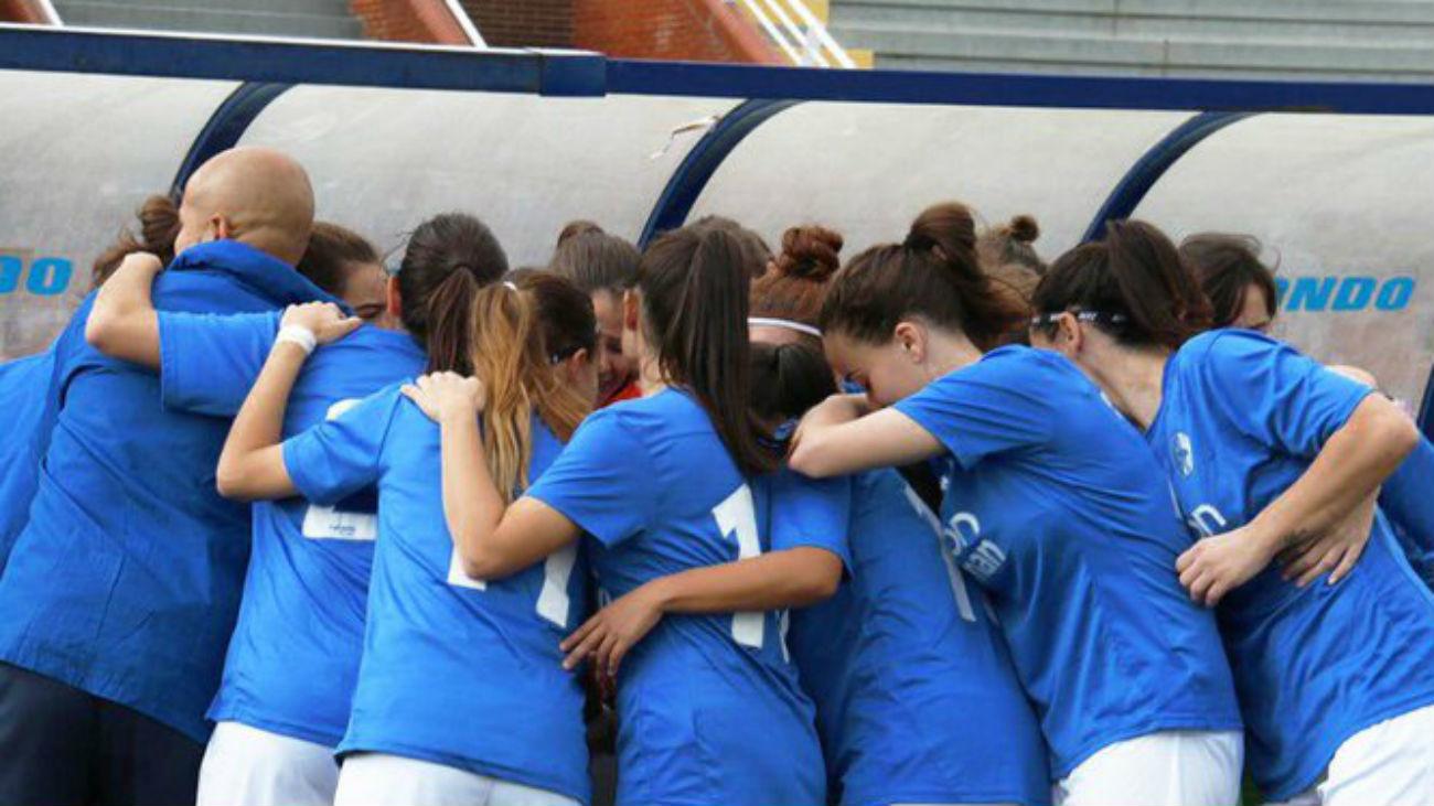 Gol de Alba, de Las Rozas, al Atlético C (1-4)