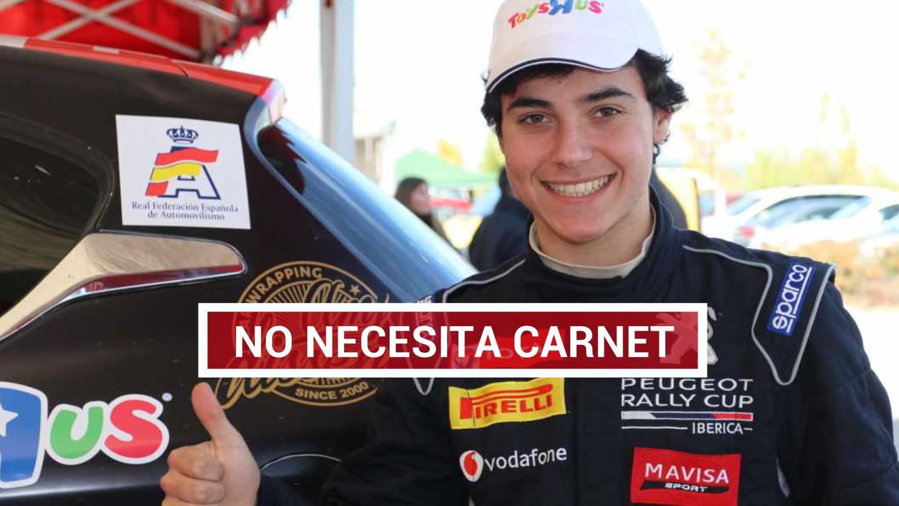 Oscar Palomo, un piloto de rally sin carnet de conducir