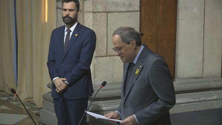 """Torra llama a """"reforzar todos los frentes"""" políticos en Cataluña"""