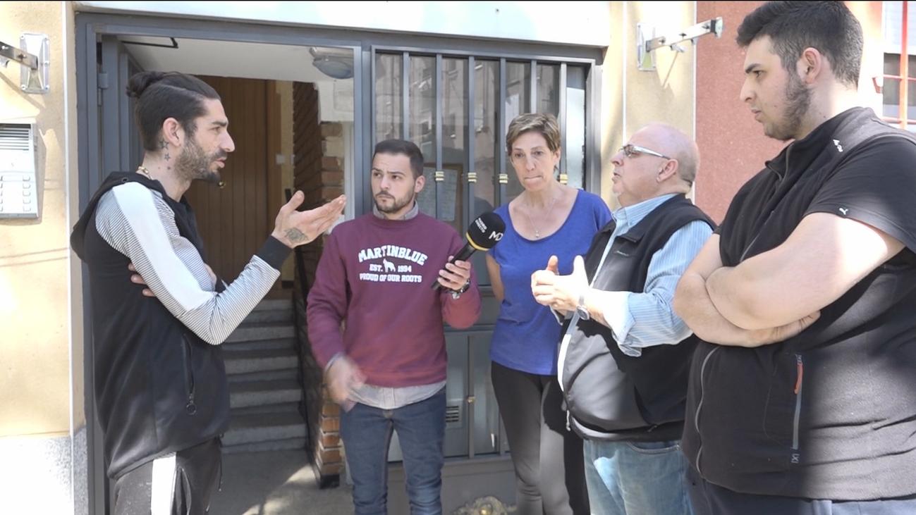 Vecinos e inquilino de un narcopiso en Simancas, cara a cara