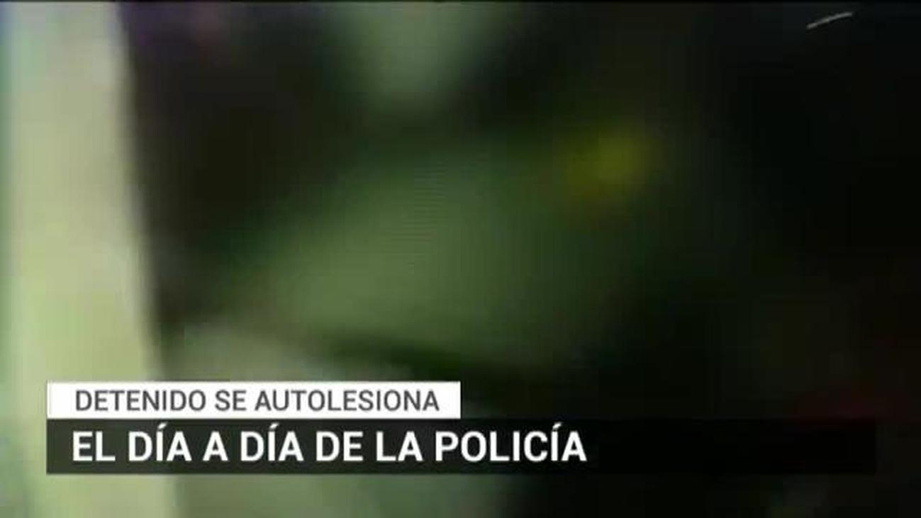 Un hombre se autolesiona tras ser detenido en Carabanchel