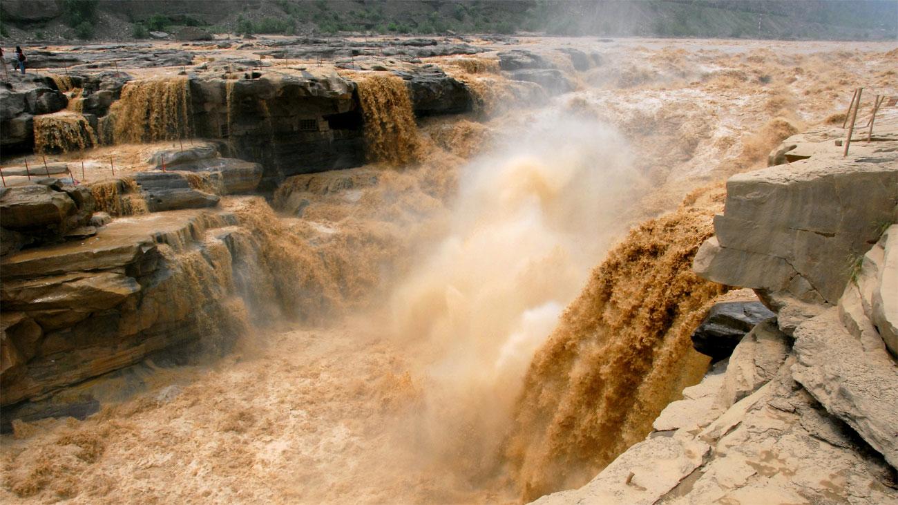 El río Amarillo se deshiela