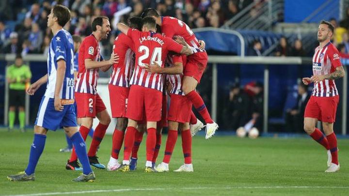 0-4. El Atlético se pasea ante el Alavés