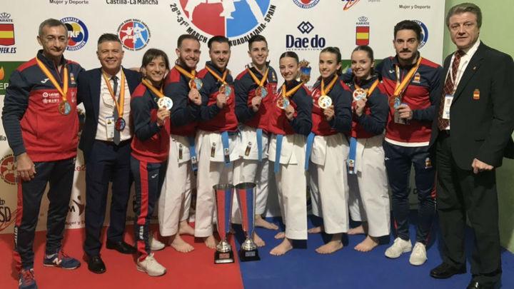Balance del Europeo de kárate con seis medallas para España
