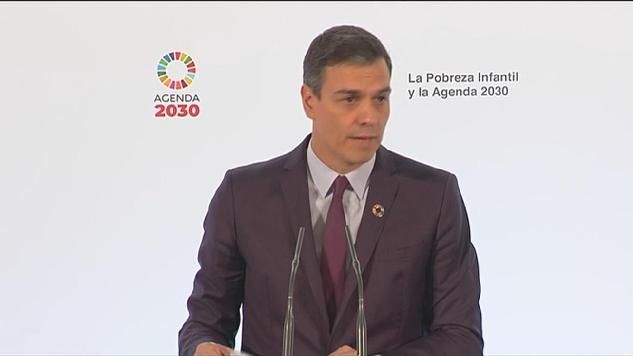 """Sánchez marca como """"prioridad absoluta y urgente""""  la atención a la pobreza infantil"""