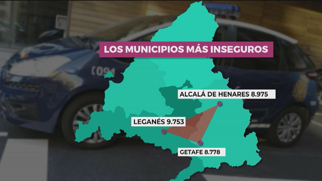 Los municipios más inseguros de la Comunidad de Madrid