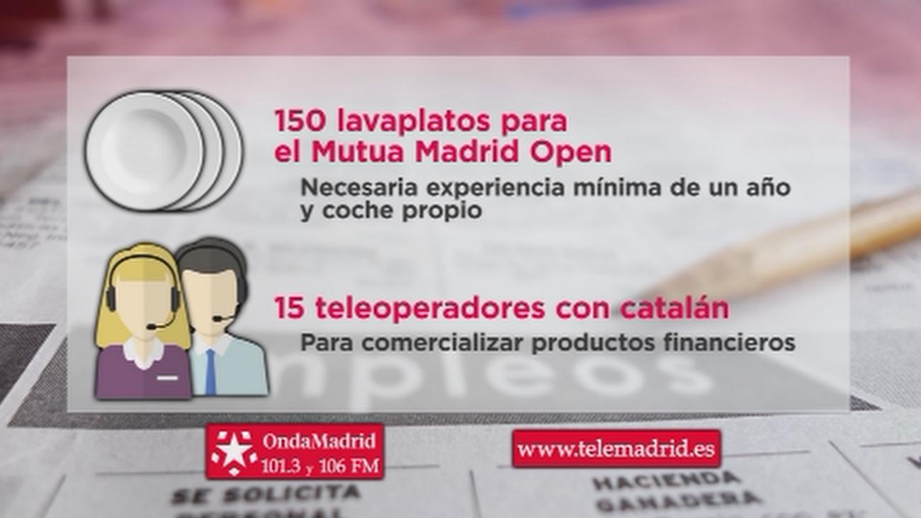 Se buscan 150 lavaplatos para trabajar en el Mutua Madrid Open