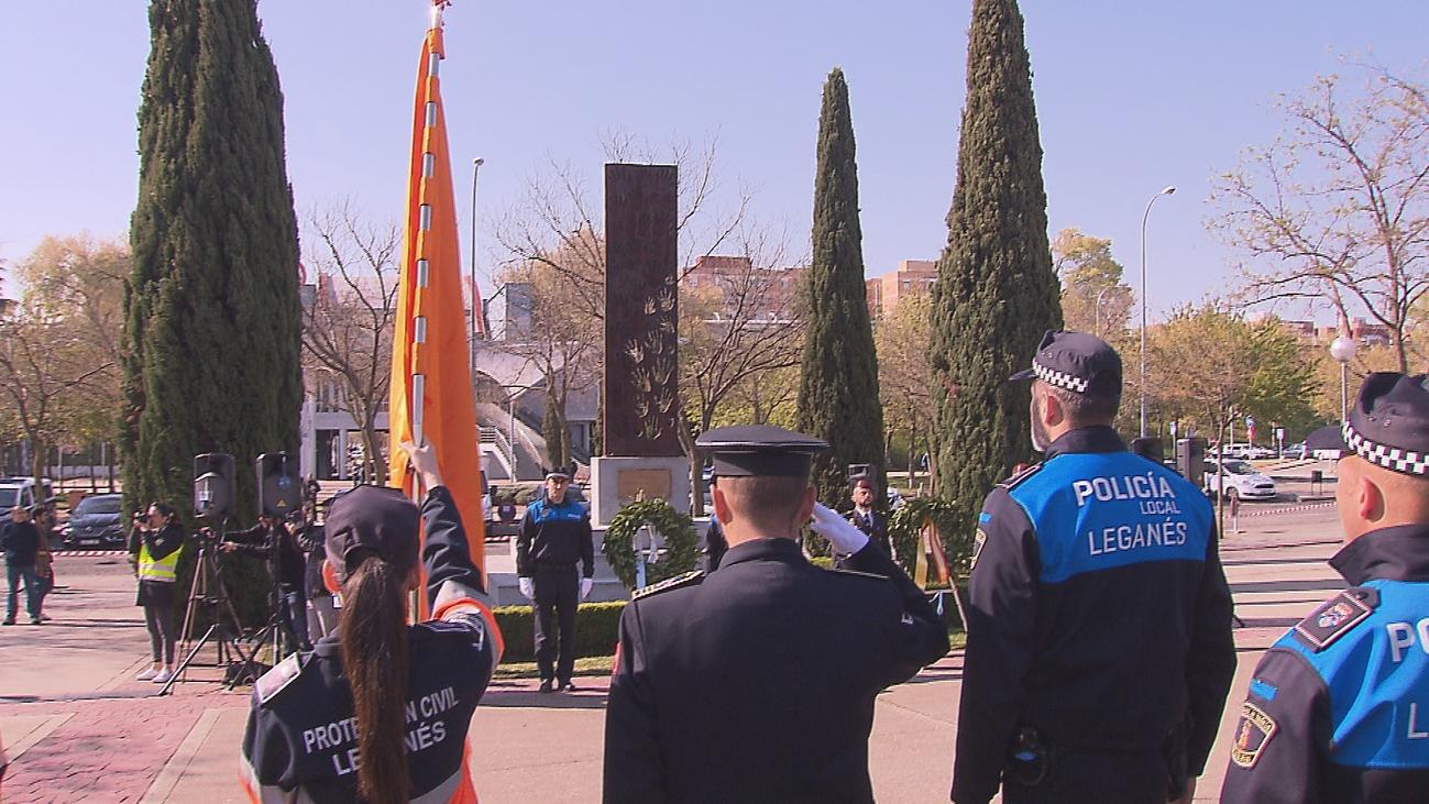 Homenaje a los vecinos y GEO fallecidos en Leganés por el 11M