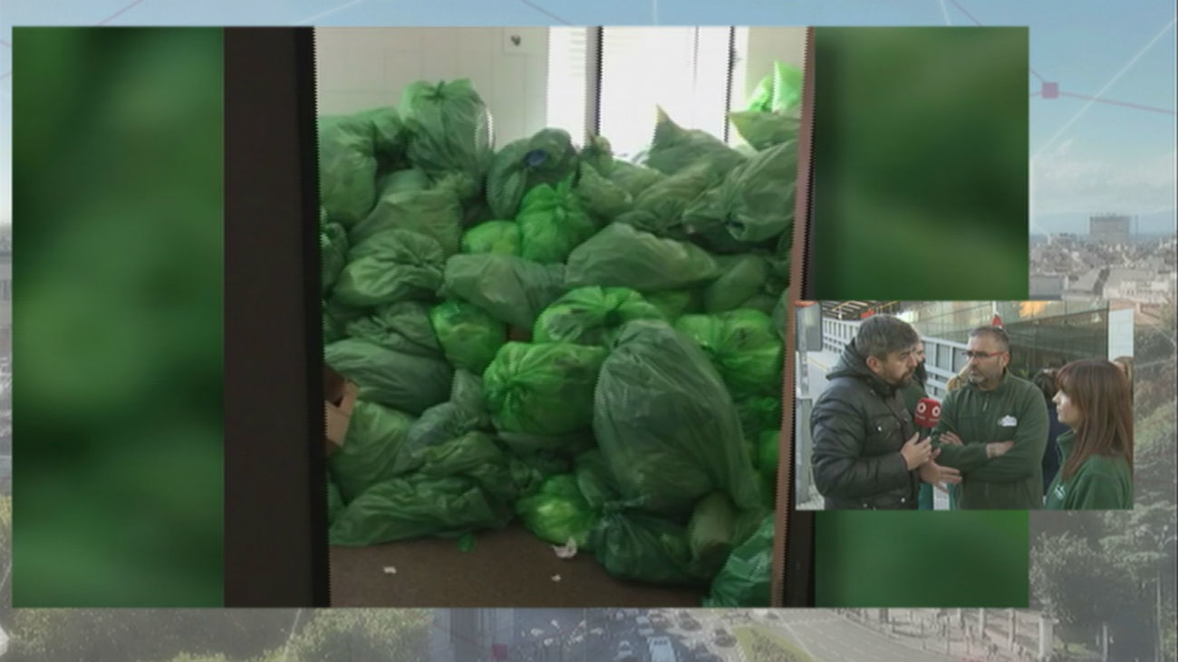 La basura en el Clínico se acumula en el cuarto día de paros