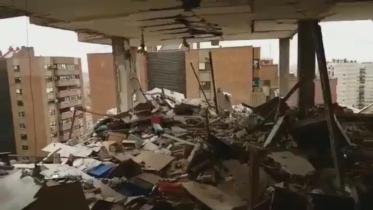 Al menos 16 heridos en la explosión de  un piso en Puente de Vallecas
