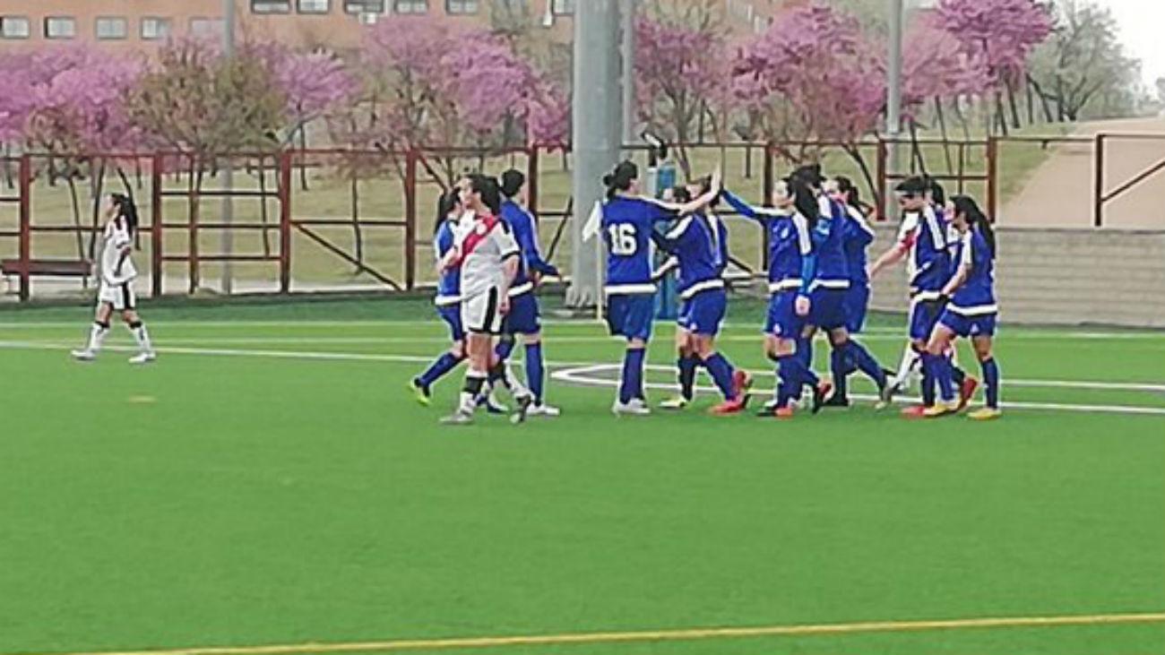 Gol de Eli, del CD Samper, a la Fundación Rayo Vallecano (1-1)