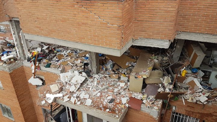 El edificio de la explosión en Vallecas será demolido parcialmente por los daños