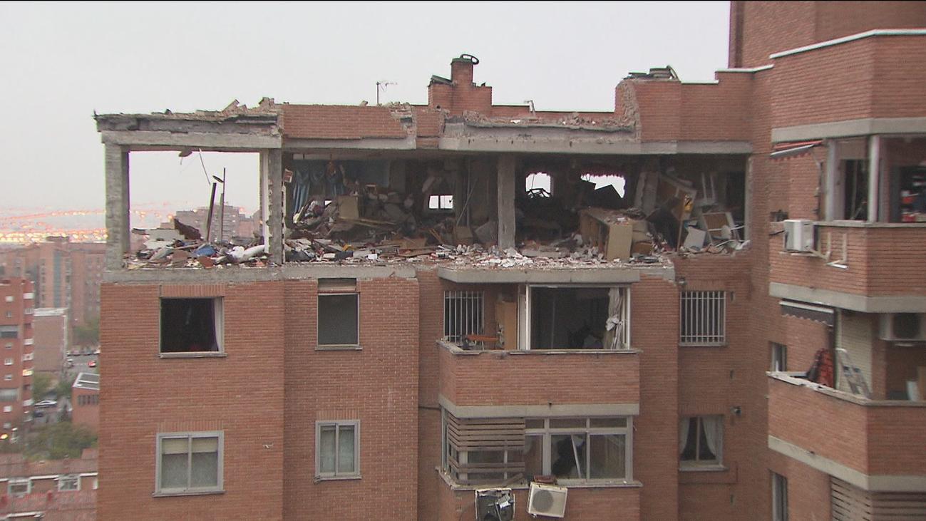 El edificio de la explosión de Vallecas será demolido parcialmente