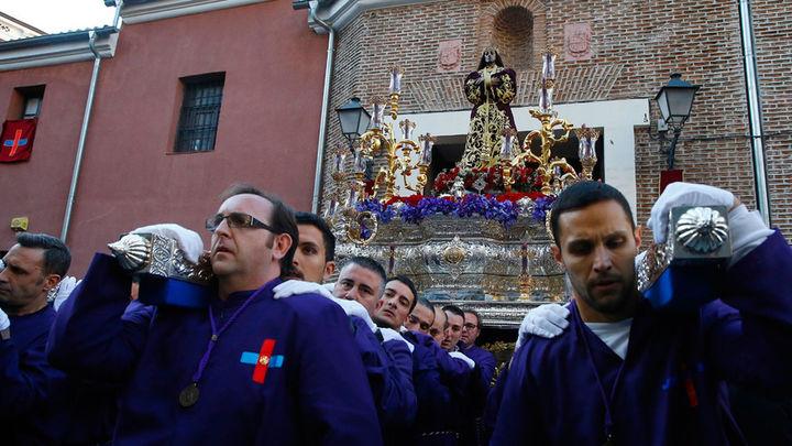 Emoción y sentimiento de la mano de Jesús El Pobre en el Jueves Santo de Madrid