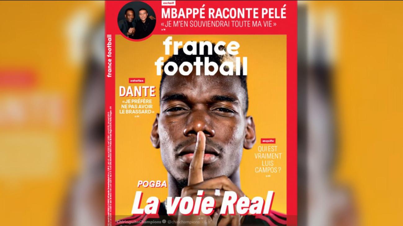 'France Football' ve a Pogba en el Real Madrid