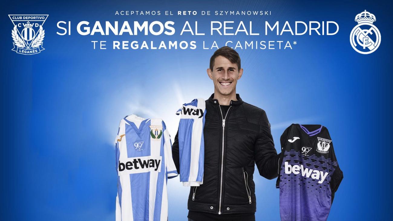 El Leganés regalará camisetas oficiales si gana al Real Madrid