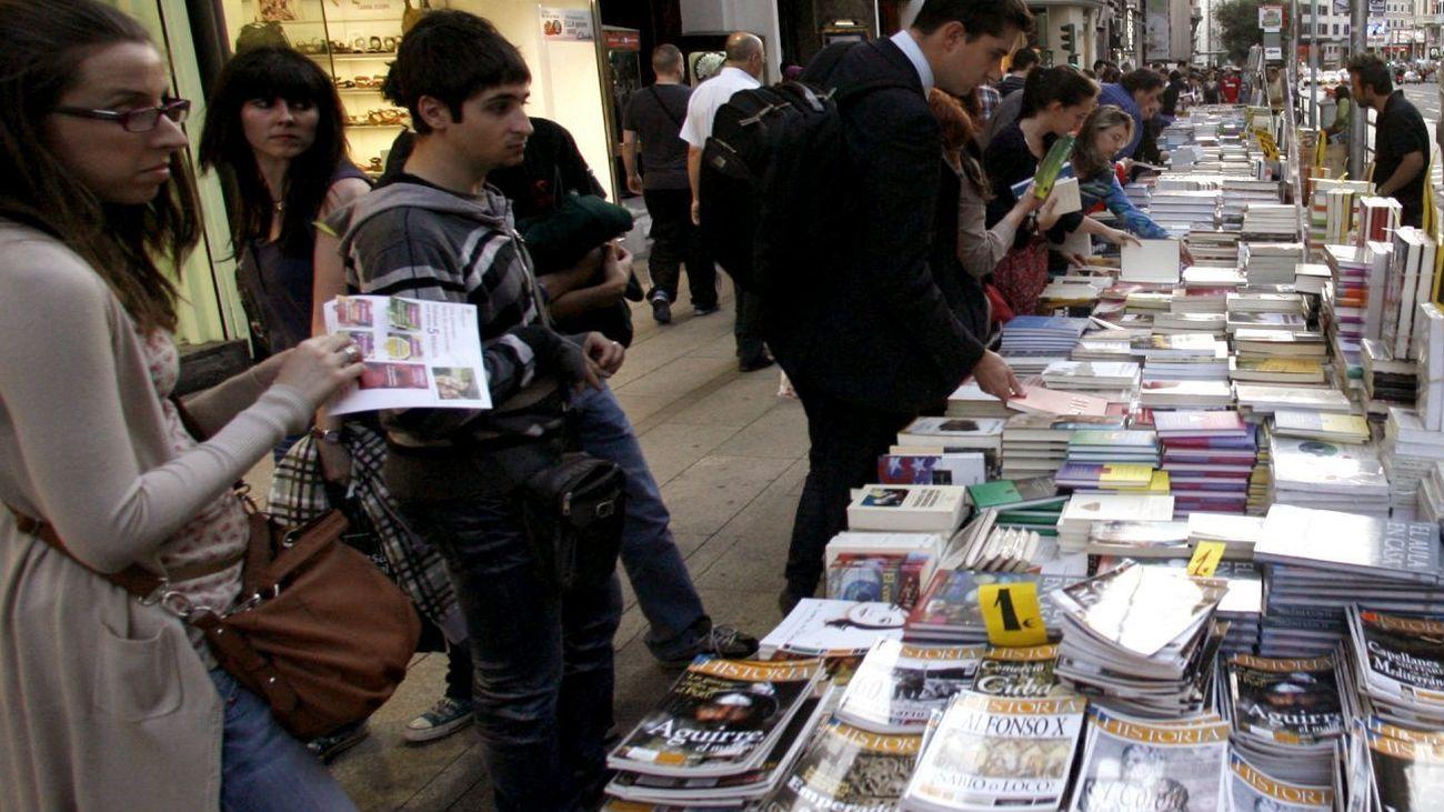 Los libros salen a la calle en Madrid en La Noche de los Libros
