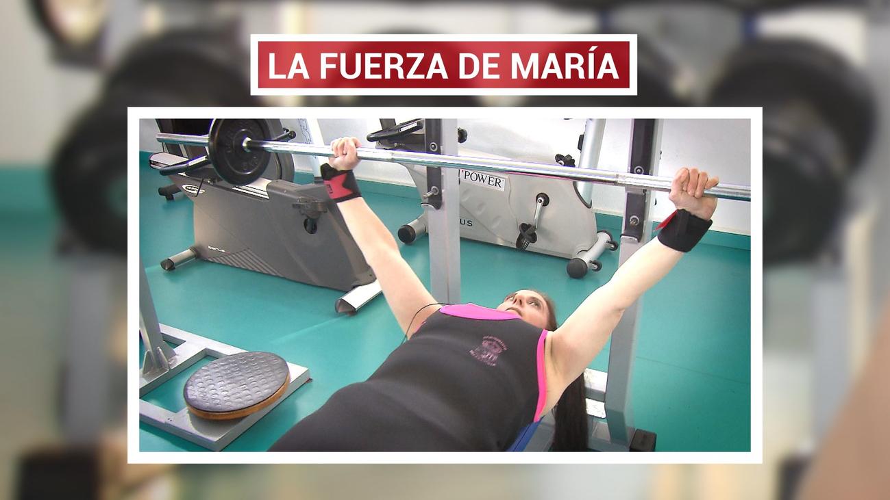 María Mejías, campeona de España de halterofilia paralímpica