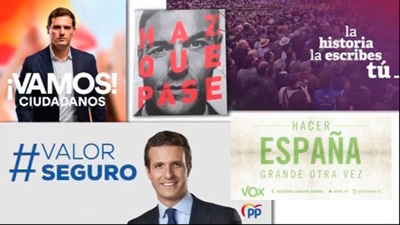 Los expertos analizan la efectividad de los lemas de campaña de los partidos
