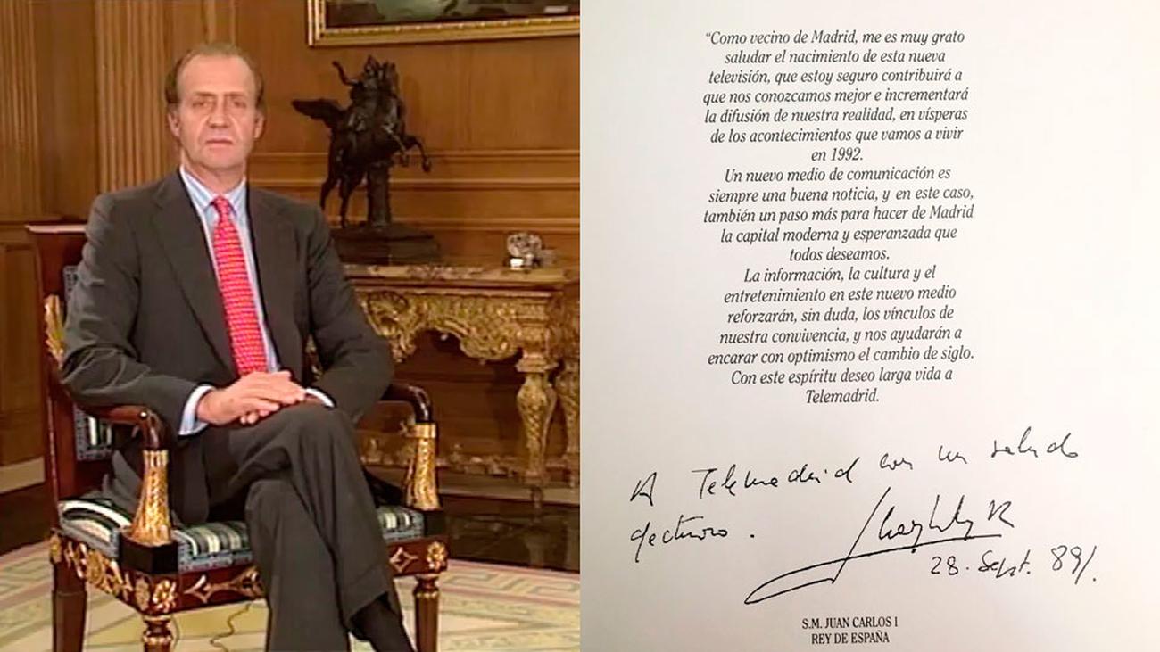 Discurso de Juan Carlos I en el comienzo de las emisiones regulares