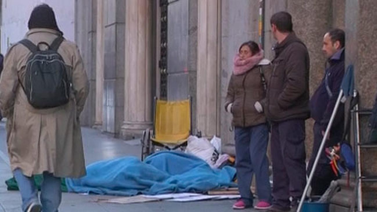 Aumentan los 'sin techo' y en Madrid hay ya 2.772 personas, 650 duermen en la calle