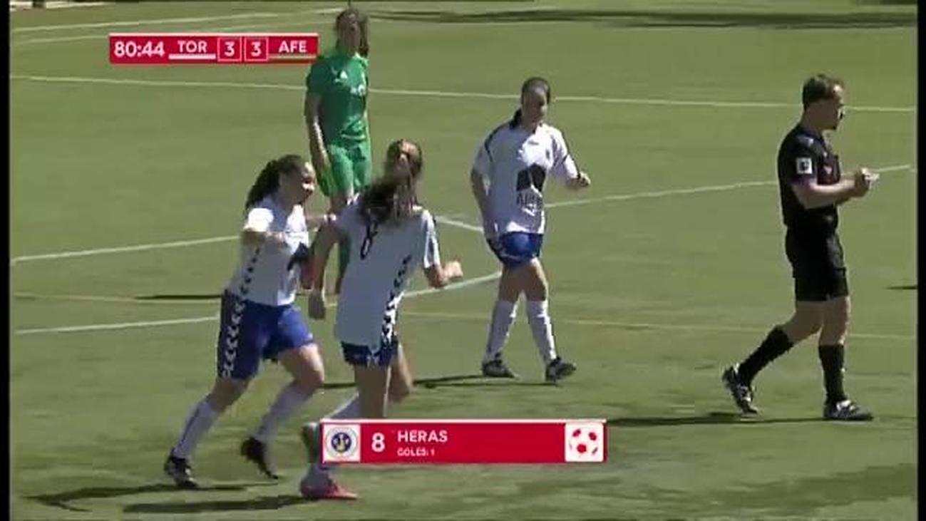 Gol de Heras, del Torrelodones, a la Escuela AFE (3-3)