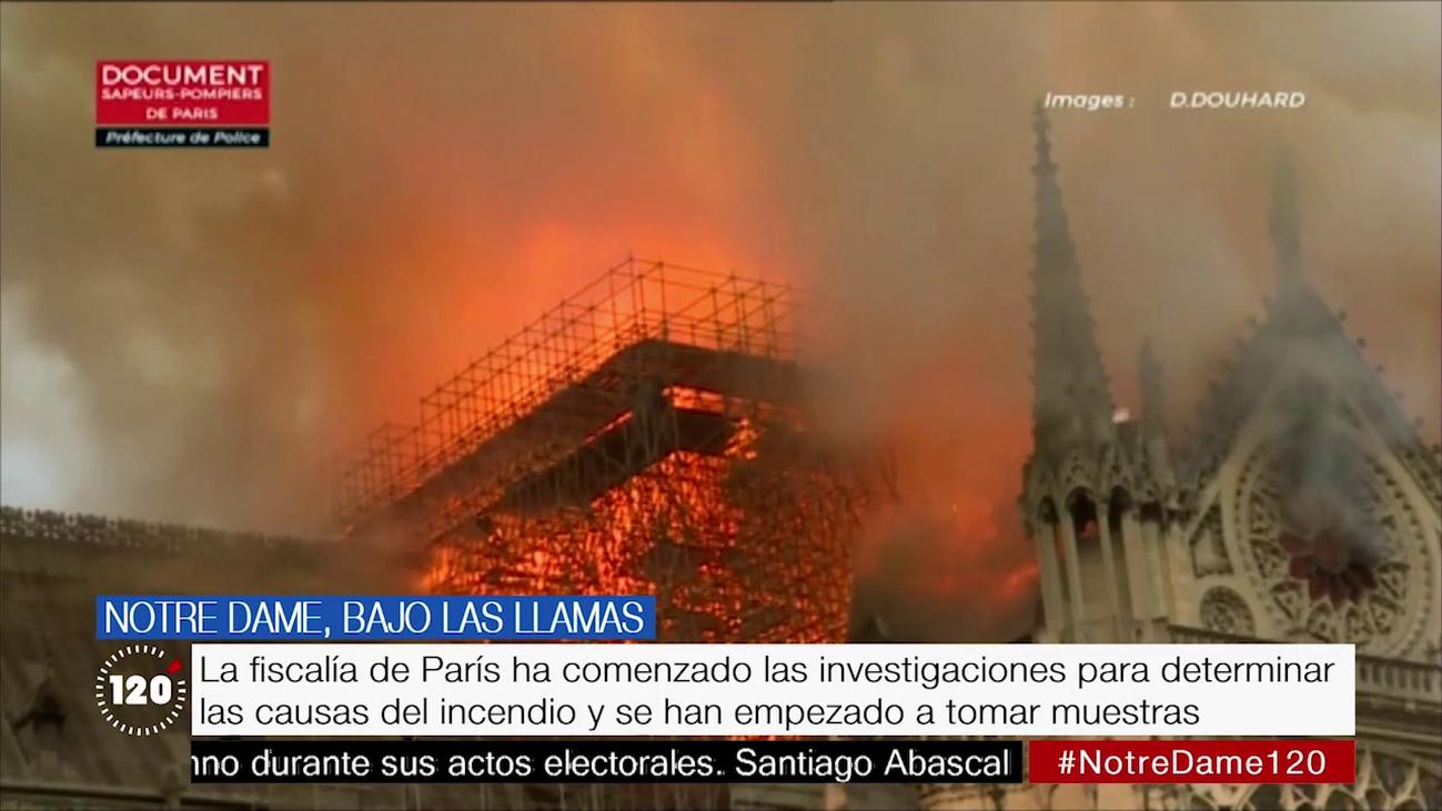 Así tuvieron que trabajar los bomberos en el incendio de Notre Dame de París