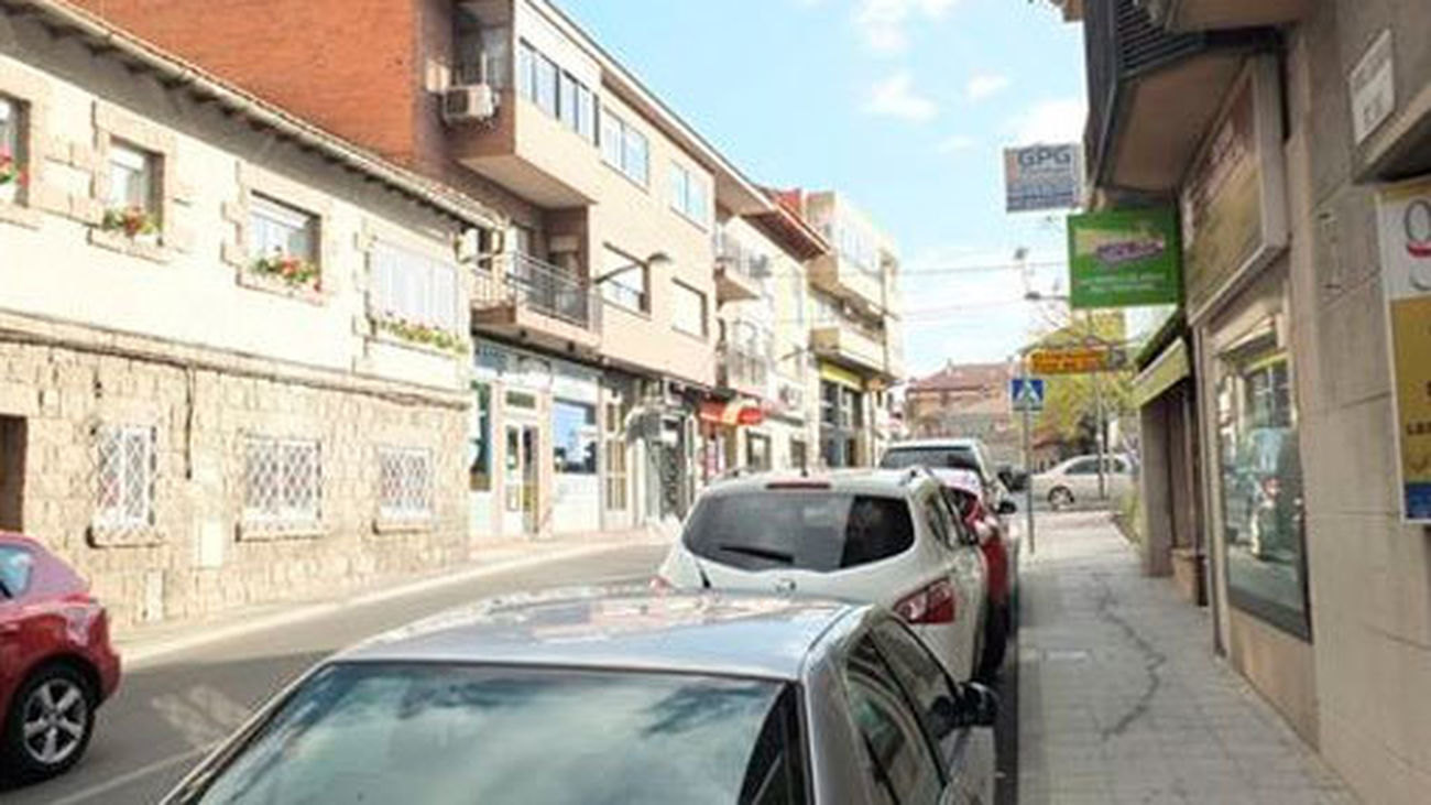 Una de las calles de Galapagar