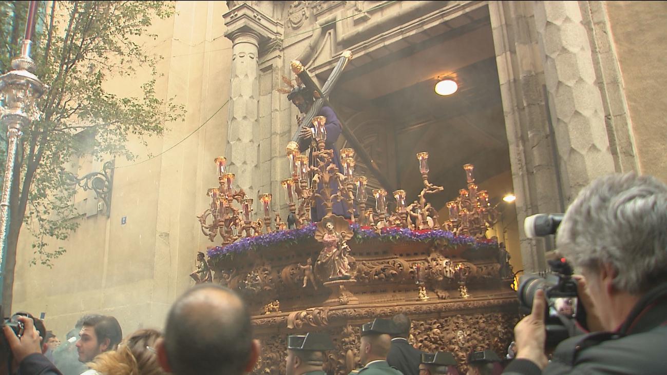 Los Gitanos, con la Virgen de las Angustias, preparados para este Miércoles Santo