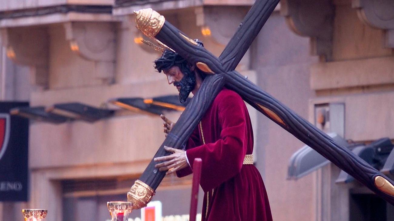 Imagen del Cristo de los Gitanos en la Semana Santa de Madrid