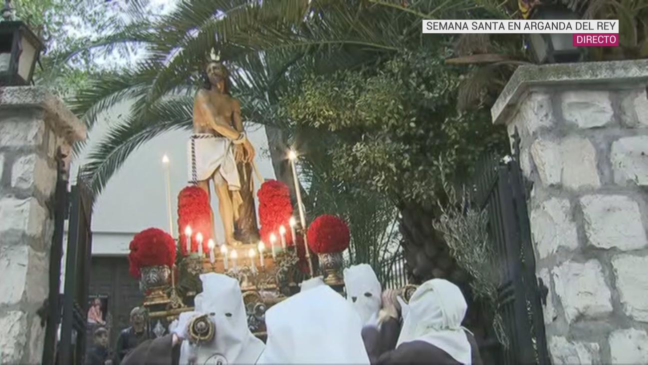 Así ha salido la procesión de la Oración del Huerto y la Flagelación de Arganda del Rey