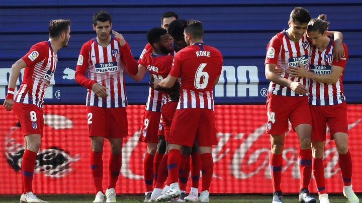 0-1. Lemar inclina para el Atlético un partido igualado
