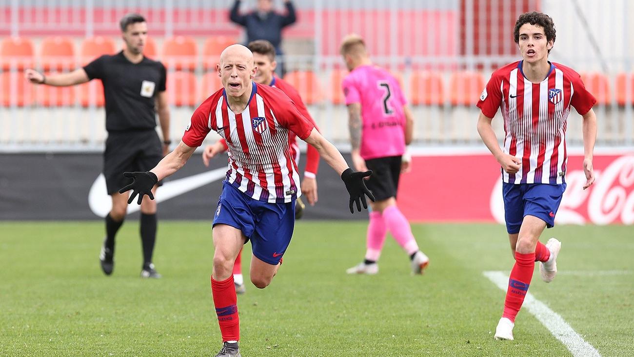 Gol de Mollejo, del Atlético de Madrid B, al Sanse (1-0)