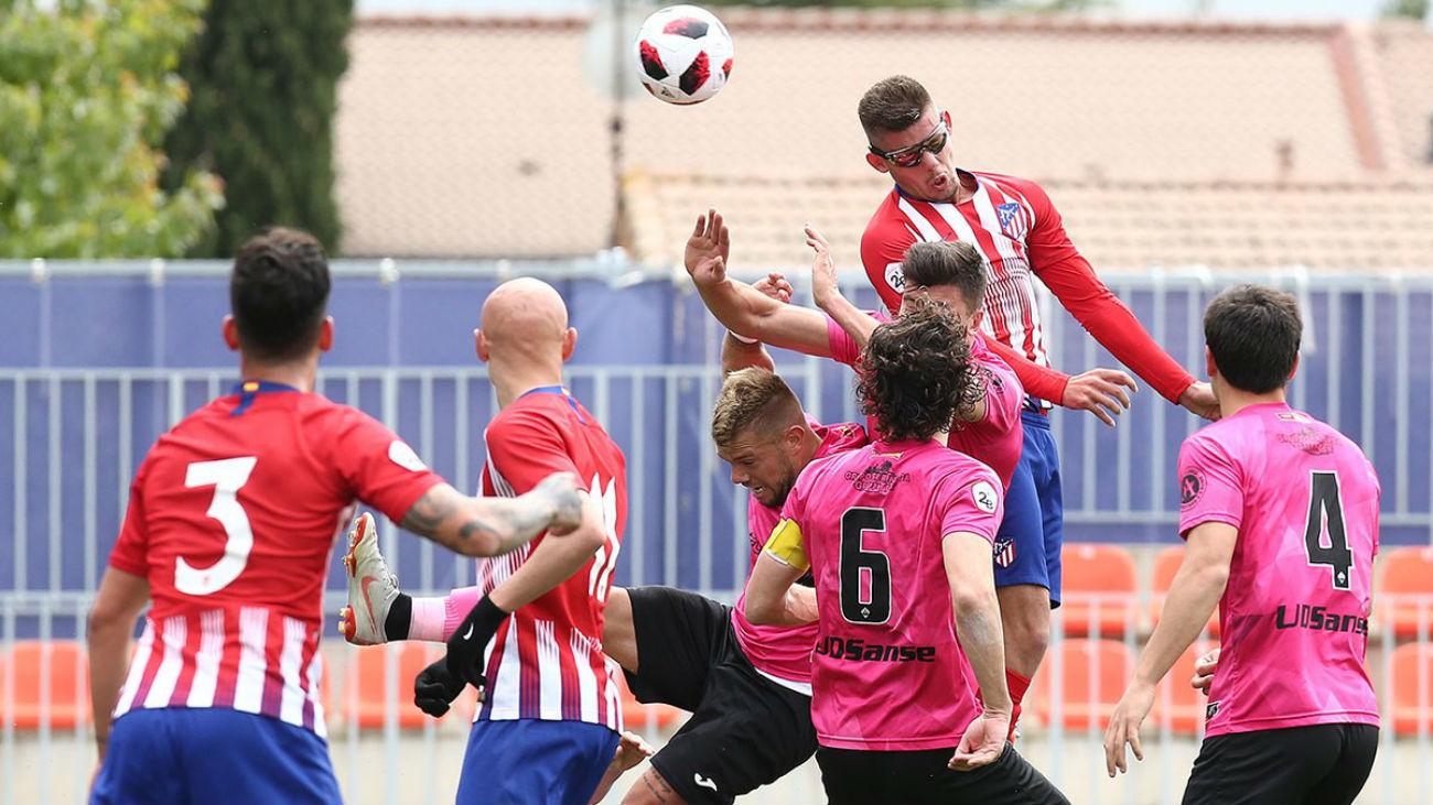 1-0. Mollejo da la victoria al Atleti B ante el Sanse