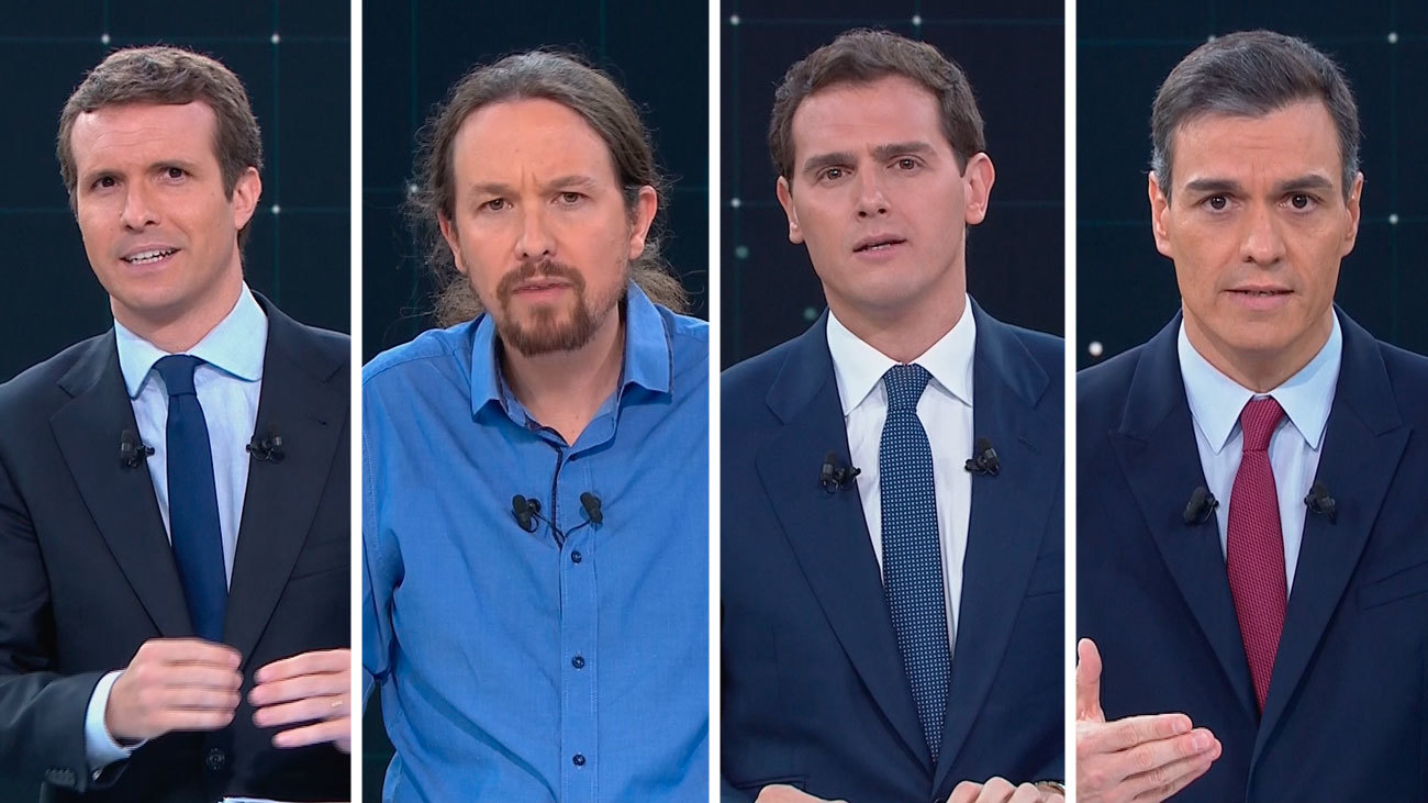 El minuto de oro de los cuatro candidatos
