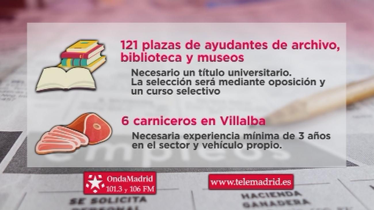 Se buscan archiveros, bibliotecarios y museólogos para trabajar en Madrid